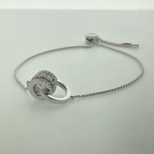 Further Bracelet, White, Rhodium Plated